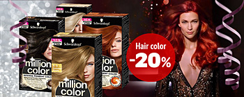 Schwarzkopf hair colors - 20% discount