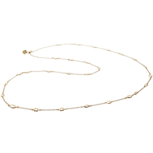 Diana Necklace - Clear/Matt Gold
