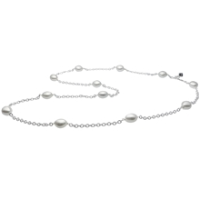Helena Necklace - White/Silver