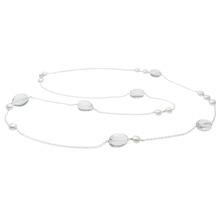 Paula Necklace - Clear/White