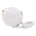 Personal Pendant Frosty Glass Ball Bling