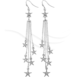 Winter Party Star Earrings