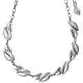 17142-6011 Leaves Necklace Silver Plated