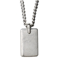 Edge Silver Plated Necklace
