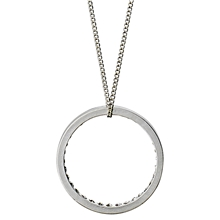 Affection Long Necklace Silver Plated