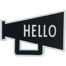 Design Letters MyCover Stickers Hello Black