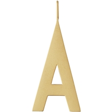 Design Letters Archetype Charm 30 mm Gold A-Z