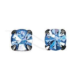 Silver Plated Square Stud Earring