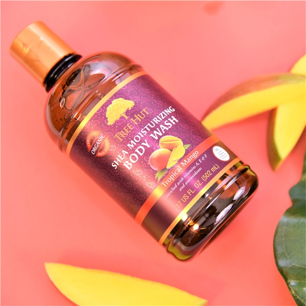Tree Hut Shea Body Wash Tropical Mango (Picture 2 of 3)